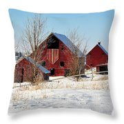 Christmas Time In Idaho Falls Throw Pillow