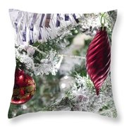 Christmas Tree Baubles Throw Pillow