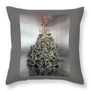 Christmas Tree Decorated By Gloria Vanderbilt Throw Pillow