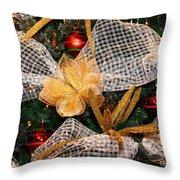 Christmas Tree Decorations Throw Pillow
