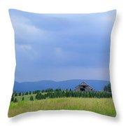 Christmas Tree Farm Distant Throw Pillow
