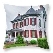 Christmas Tree Haus Throw Pillow