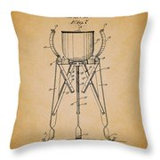 Christmas Tree Holder Patent 1927 Throw Pillow