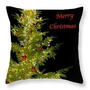 Christmas Tree Lighting Throw Pillow