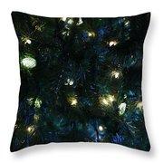 Christmas Tree Lights Throw Pillow