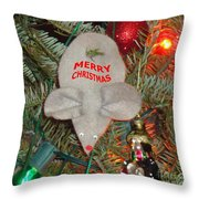 Christmas Tree Mouse Throw Pillow