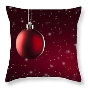 Christmas Tree Ornament Throw Pillow
