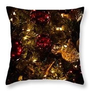 Christmas Tree Ornaments 3 Throw Pillow