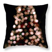 Christmas Tree Out Of Focus Throw Pillow