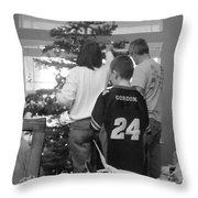 Christmas Tree Prep Throw Pillow