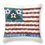 Christmas U.s.a. Throw Pillow