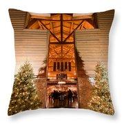 Christmas Village Decorations Throw Pillow