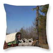 Christmas Wagon Throw Pillow