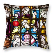 Christmas Window Throw Pillow