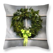 Christmas Windowpane Throw Pillow