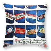 Christmas Wish List 1960 Throw Pillow