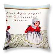 Christmas Wishes In Italian Throw Pillow