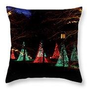 Christmas Wonderland Walk Throw Pillow