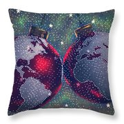 Season's Joy Throw Pillow