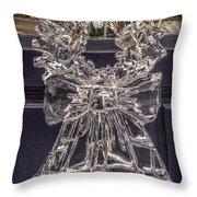 Christmas Wreath Ice Sculpture Throw Pillow