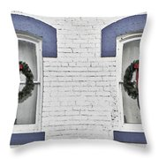 Christmas Wreaths  Throw Pillow