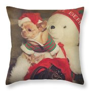 Christmas Zoe Throw Pillow by Laurie Search