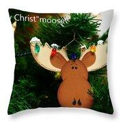 Christmoose Throw Pillow