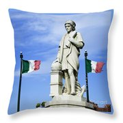 Christopher Columbus Baltimore  Statue Throw Pillow
