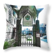 Christ's College Canterbury Throw Pillow