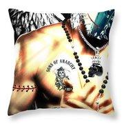 Christy Angel Mask Half Throw Pillow