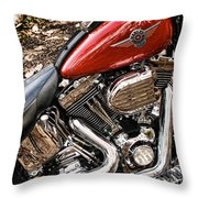 Chrome And Red Throw Pillow