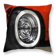 Chrome Bullets Throw Pillow