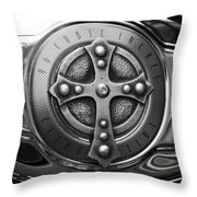 Chrome Cross - 96 Cubic Inches Throw Pillow