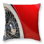Chrome Spokes Throw Pillow
