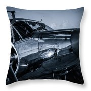 Chrome Twin-engined Beauty Throw Pillow