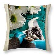 Chrysanthemum Cuttings Throw Pillow by John Edwards