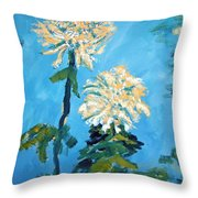 Chrysanthemum Floral Throw Pillow