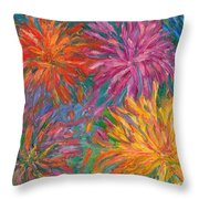 Chrysanthemums Like Fireworks Throw Pillow