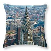 Chrysler Building - Nyc Throw Pillow