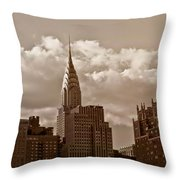 Chrysler Building And The New York City Skyline Throw Pillow