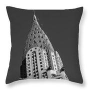 Chrysler Building Bw Throw Pillow