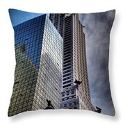 Chrysler Building From Below Throw Pillow