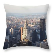 Chrysler Building From The Empire State Building Throw Pillow