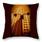 Rockefeller Building In Manhattan Throw Pillow