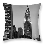 Chrysler Building New York City Bw Throw Pillow