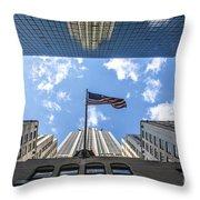 Chrysler Building Reflections Horizontal Throw Pillow