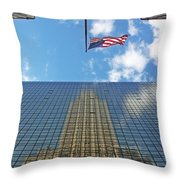 Chrysler Building Reflections Vertical 1 Throw Pillow