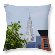 Chrysler Building View Throw Pillow