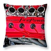 Chrysler Fire Power Throw Pillow