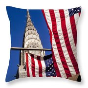 Chrysler Flags Throw Pillow